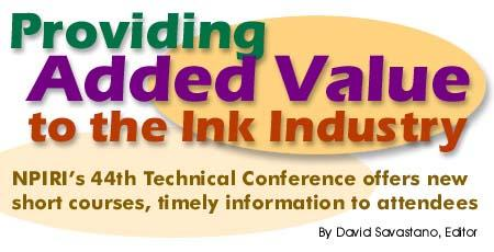Providing Added Value to the Ink Industry