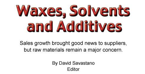 Waxes, Solvents and Additives